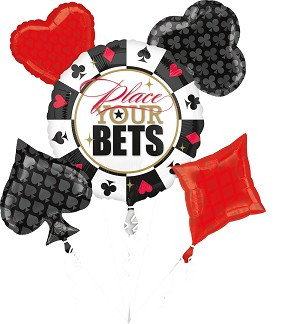 Place Your Bet Casino Balloon Bouquet