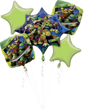 TMNT Birthday Balloon Bouquet