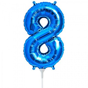 16' Blue Number  '8'  Eight Foil Balloon
