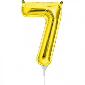 "16"" Gold Number  ""7""  Seven Foil Balloon"