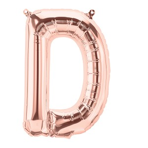 16in Rose Gold Letter D  Foil Balloon