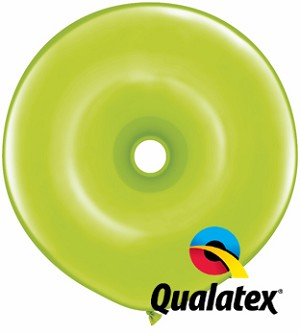 16in Geo Donut Lime Green Latex Balloon - 25 ct